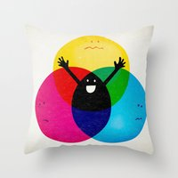 child Throw Pillows featuring Nobody's child by Robert Farkas