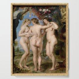 Las Tres Gracias - Pedro Pablo Rubens Serving Tray