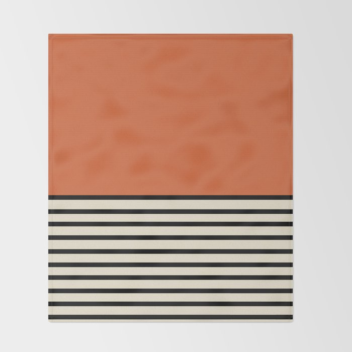 Sunrise / Sunset - Orange & Black Throw Blanket