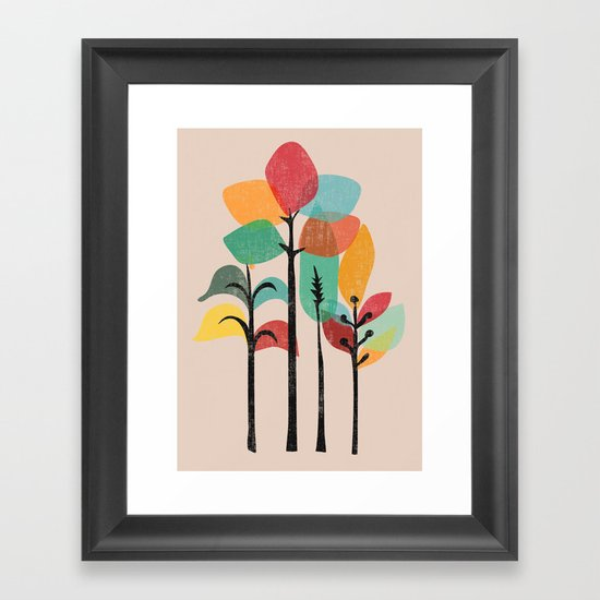 Tropical Groove Framed Art Print