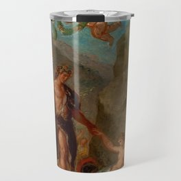 """Eugène Delacroix """"Autumn from a series of the Four Seasons (Baccus and Ariadne)"""" Travel Mug"""