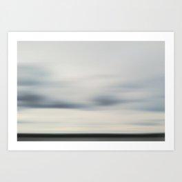 Canandaigua Lake Grey Art Print