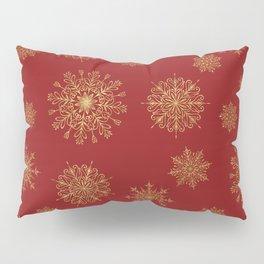 Assorted Golden Snowflakes Pillow Sham