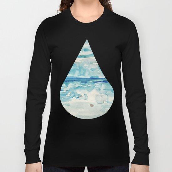 Miami Beach Watercolor #6 Long Sleeve T-shirt