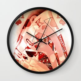 Royal Flush Mania Wall Clock