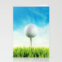 golf Stationery Cards featuring GOLF by Ylenia Pizzetti