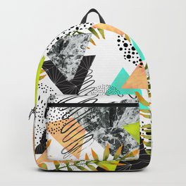 Triangles and plants Backpack