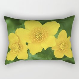 Marsh Marigold Caltha Palustris Rectangular Pillow