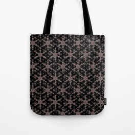Snow flake of Ruby and Gold Tote Bag