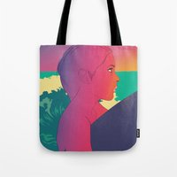 surfer Tote Bags featuring Surfer by martiszu