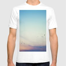 sunset flight SMALL White Mens Fitted Tee