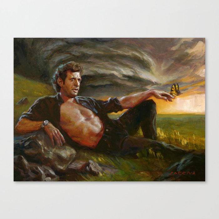 Ian Malcolm: From Chaos Leinwanddruck