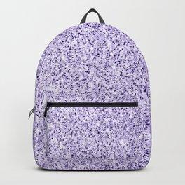 Ultra violet light purple glitter sparkles Backpack