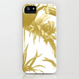 Toucans and Bromeliads - Spicy Mustard iPhone Case
