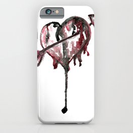 Cupid Watercolor Heart iPhone Case