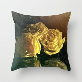 """La Rosa Amarilla"" Throw Pillow"