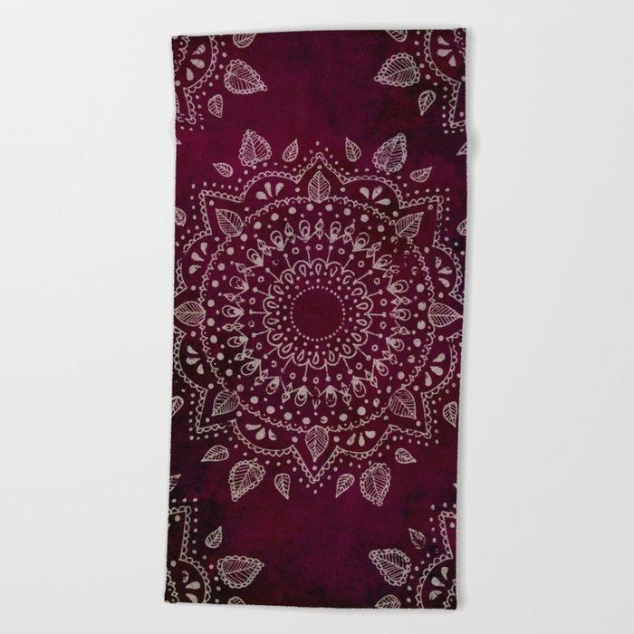 Wine Mandala Beach Towel