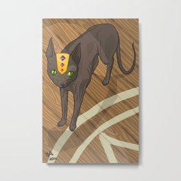Spooky Kitty Metal Print