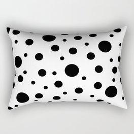 Black on White Polka Dot Pattern Rectangular Pillow