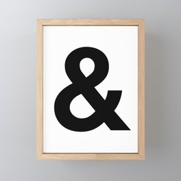 Ampersand Black and White Helvetica Typography Design Poster Home Decor Wall Art Scandinavian Decor Framed Mini Art Print