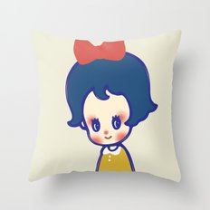 a little girl  Throw Pillow