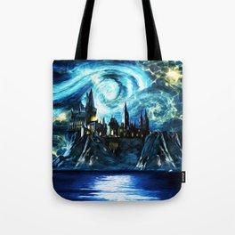 Starry Night Hogwarts Tote Bag