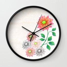 Sweet Dahlias Wall Clock