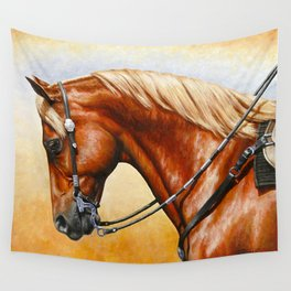 Western Sorrel Quarter Horse Wall Tapestry