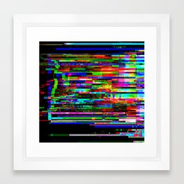 Angry Pixels Framed Art Print