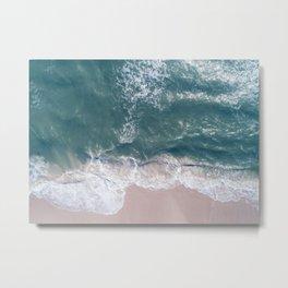 Sea Foam Drone View Metal Print