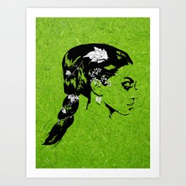 Lady of the Vine Art Print