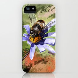 Bee on flower 18 iPhone Case