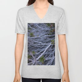 Roots of time by Denise Dietrich Unisex V-Neck