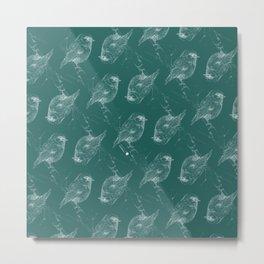 negative bird mosaic Metal Print