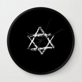 Star of David 22- Jerusalem -יְרוּשָׁלַיִם,israel,hebrew,judaism,jew,david,magen david Wall Clock