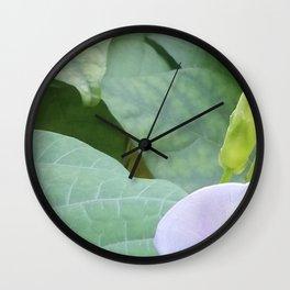 Between A Bee & A Flower Wall Clock