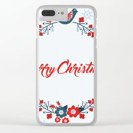 Merry christmas greeting Clear iPhone Case