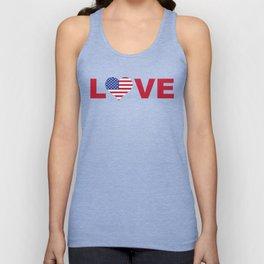 Love USA Unisex Tank Top