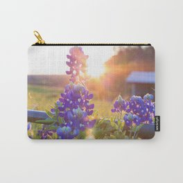 Sun Shining through the Bluebonnets Carry-All Pouch