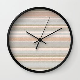 Country Linen / Neutral Stripes Wall Clock