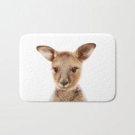 Baby Kangaroo, Baby Animals Art Print By Synplus Bath Mat