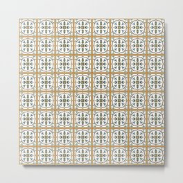 Portuguese Tile Pattern - Traditional Azulejos of Portugal Metal Print