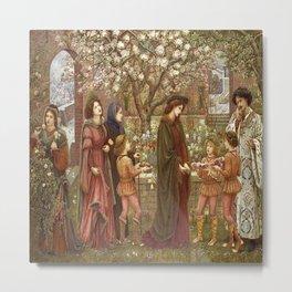 """The Enchanted Garden of Alsando Messer"" by Marie Spartali Stillman (1900) Metal Print"