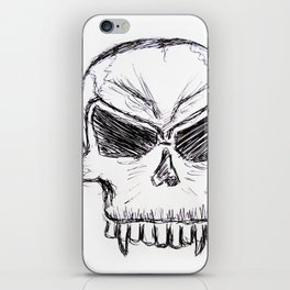 Sumpin' Wicked Comes - Original Ink Sketch iPhone Skin