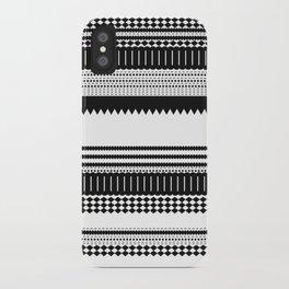 Graphic_Black&white iPhone Case