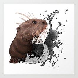 Cujo giant river otter Art Print
