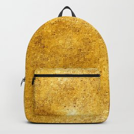Pixillated Gold Foil Backpack