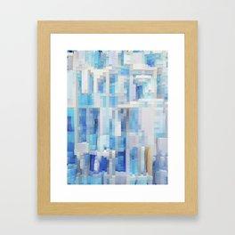 Abstract blue pattern 2 Framed Art Print