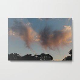Brushstroke Clouds of Minnesota Metal Print