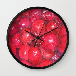 A basketful of plums Wall Clock